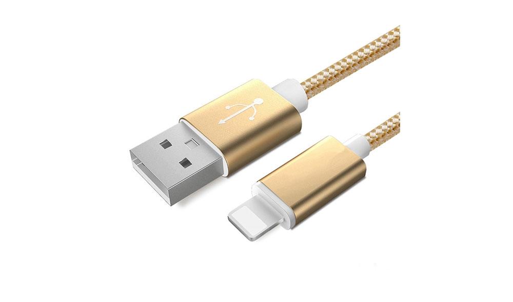 неубиваемая зарядка для iphone gold