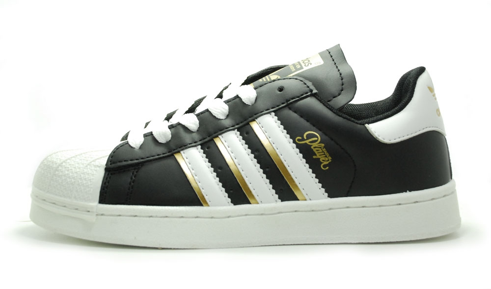 adidas superstar ii black/gold/white woman