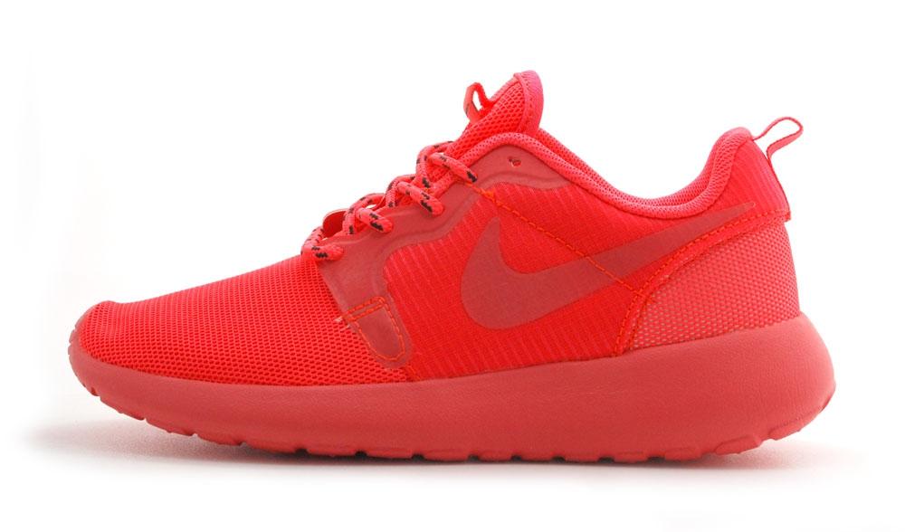 nike roshe run coral full woman