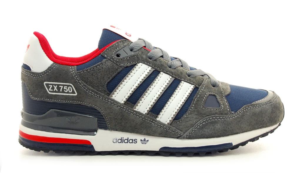 268466ef3 Adidas ZX 750 Grey/Blue/Red Men, цена 1750 руб купить кроссовки ...