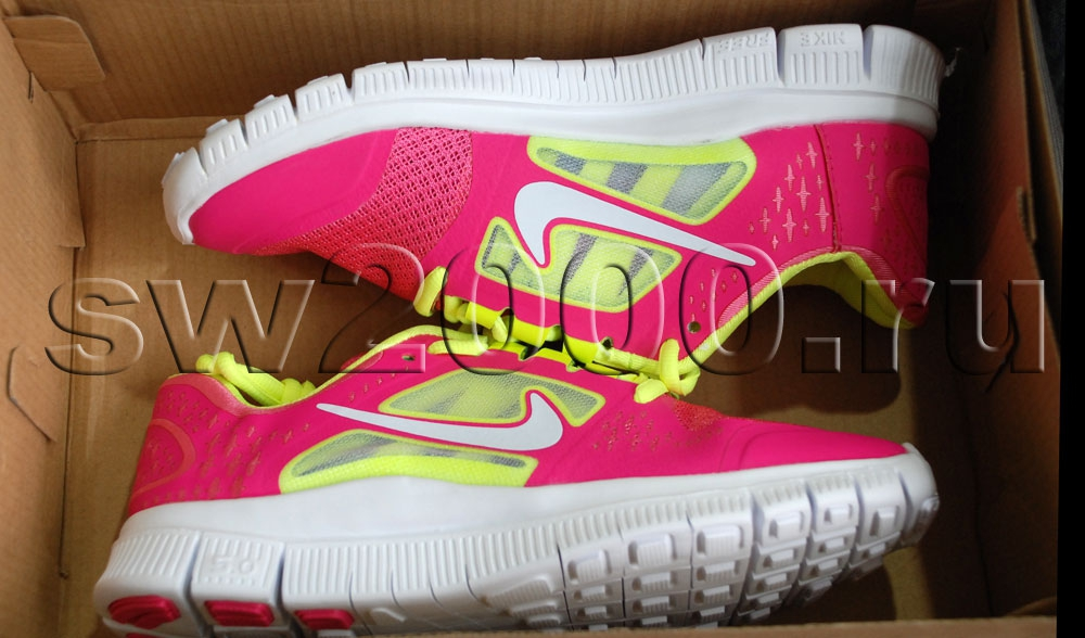 Nike Free Run 5.0 Pink/Yellow/White Woman