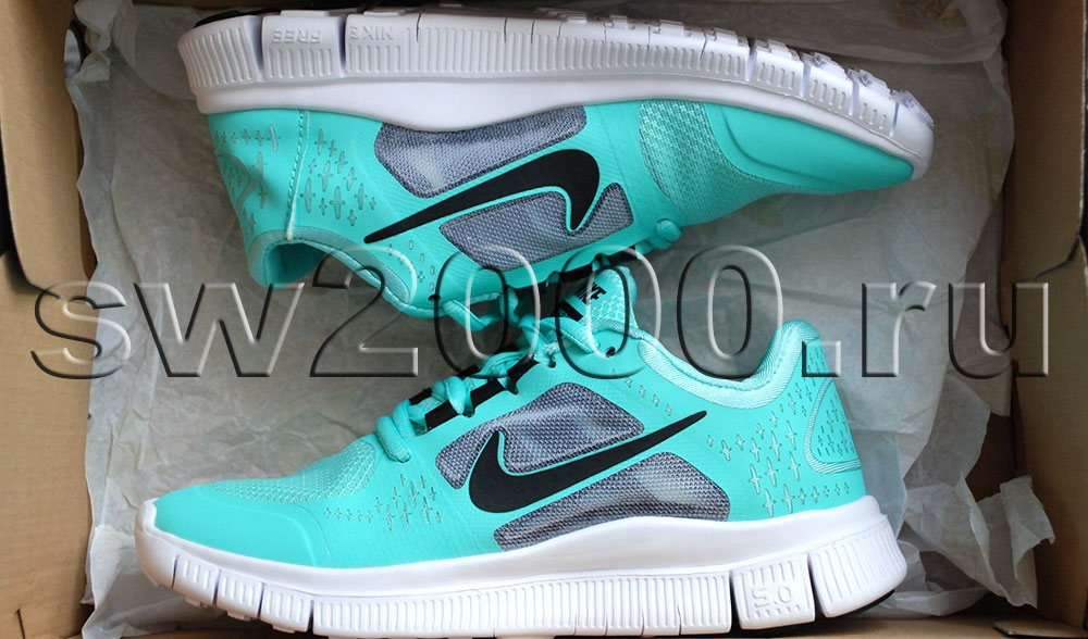 Nike Free Run 5.0 Mint/Black Woman