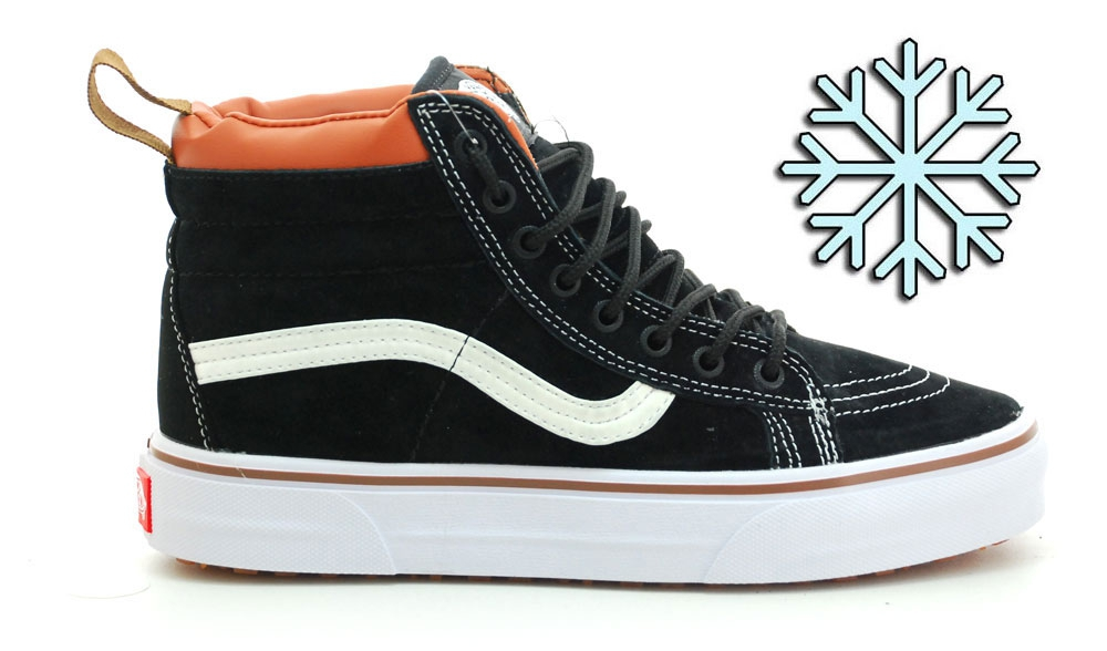 Vans Black/White SK8-HI Women Winter