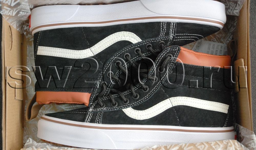Vans Black/White SK8-HI Women Winter