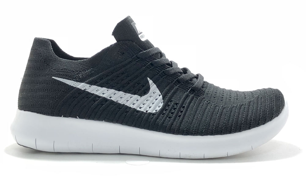 Nike Free Run Flyknit Black White Men