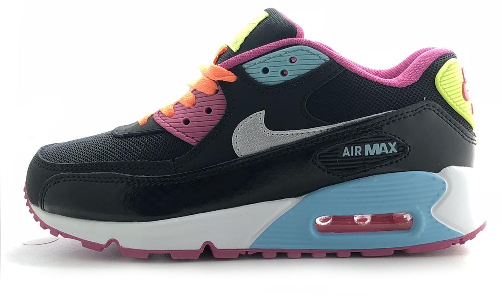 nike air max 90 black/orange/mint/pink woman