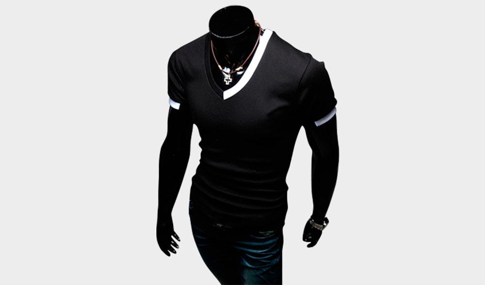 футболка contrast shirt black man