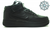 Nike Air Force 1 Mid Black Men Winter