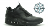 Nike Air Max 90 Snikerboot Black Winter Woman