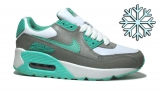 Nike Air Max 90 White/Grey/Mint  Woman  Winter