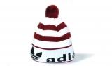 Шапка зимняя Adidas White/Bordo
