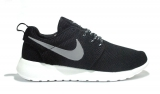 Nike Roshe Run Black/White/Silver Woman