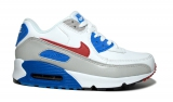 Nike Air Max 90 White/Grey/Blue/Red  Woman