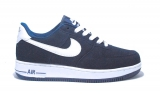 Nike Air Force 1 Low Blue/White Shuede  Men