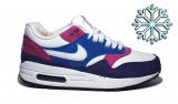 Nike Air Max 87 White Pink Blue Violet Woman Winter