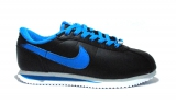 Nike Cortez Leather Black/Blue Woman