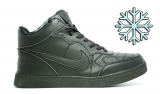 Кеды Nike Black Leather Winter Woman