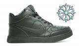Кеды Nike Black Leather Winter Woman