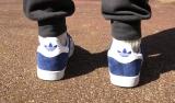adidas gazelle blue/gold/white men