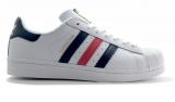 adidas superstar ii white blue red woman