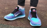 Nike Free Run Flyknit Sky Purple Woman