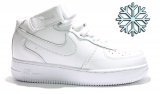 Nike Air Force 1 Mid White Woman Winter