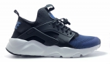 Nike Huarache Black White Blue Woman