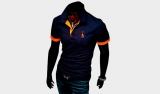 Футболка Polo JF Dark Blue Orange Man
